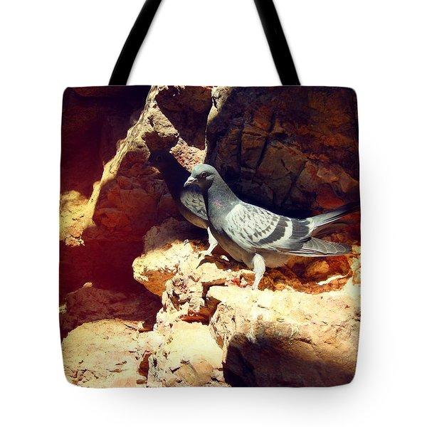 Silver Birds Tote Bag