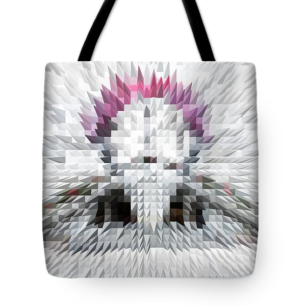 Silver Cotton Candy Tote Bag