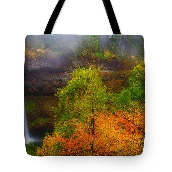 Silver Falls Pano Tote Bag