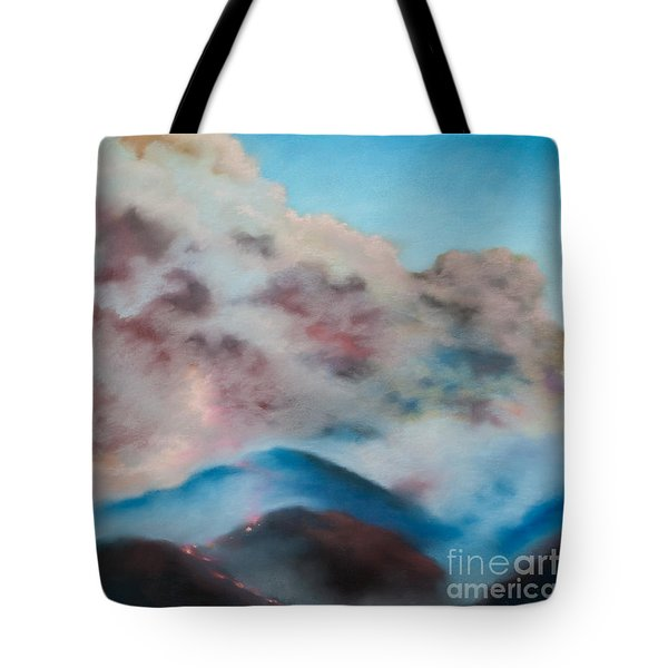 Silver Fire Tote Bag