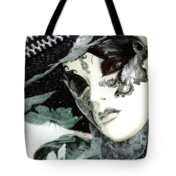 Silver Lacy Eyes Tote Bag