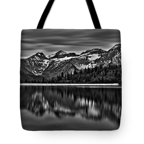 Silver Lake Reflection Black And White Tote Bag