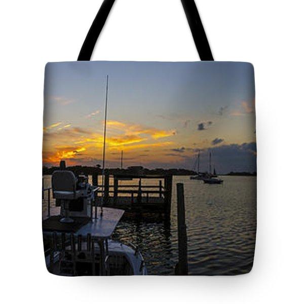 Silver Lake Sunset Panorama Tote Bag