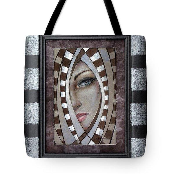 Silver Memories 220414 Framed Tote Bag