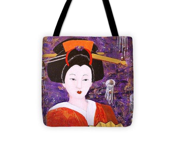 Silver Moon Geisha Tote Bag by Jane Chesnut