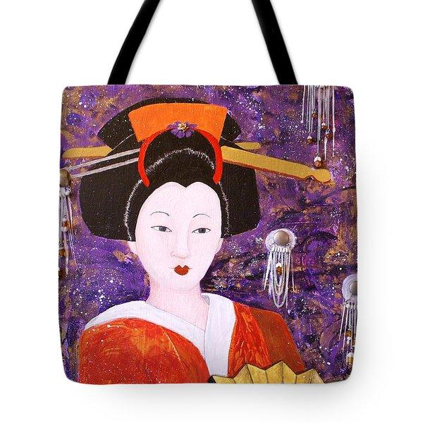 Silver Moon Geisha Tote Bag