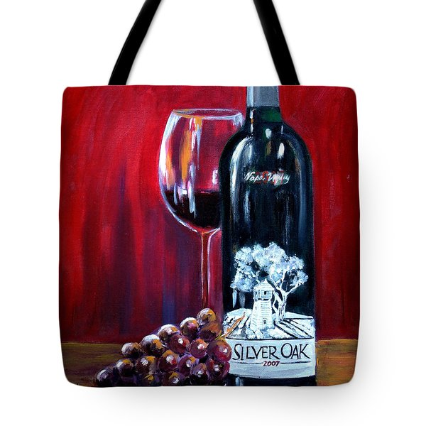Silver Oak Of Napa Valley And Grape Tote Bag