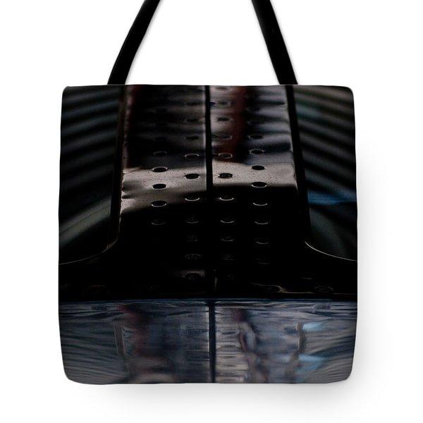 Silver Tote Bag by Paul Job