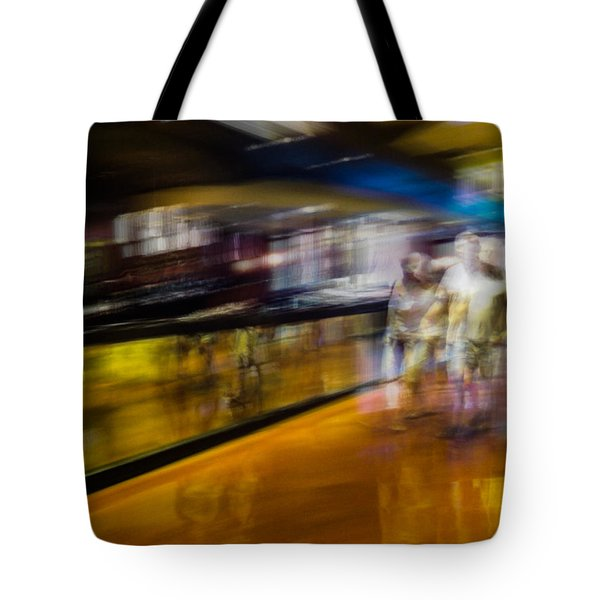 Tote Bag featuring the photograph Silver People In A Golden World by Alex Lapidus