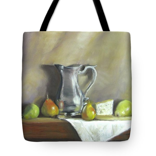 Silver Pitcher With Pears Tote Bag by Jack Skinner