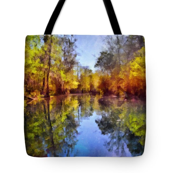Silver River Colors Tote Bag by Christine Till