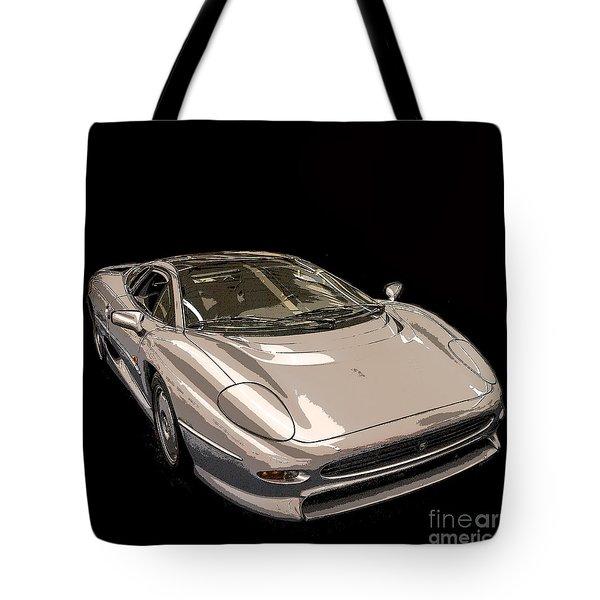 Silver Sports Car Tote Bag by Edward Fielding
