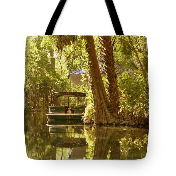 Silver Springs Glass Bottom Boats Tote Bag by Christine Till