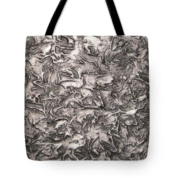 Silver Streak Tote Bag