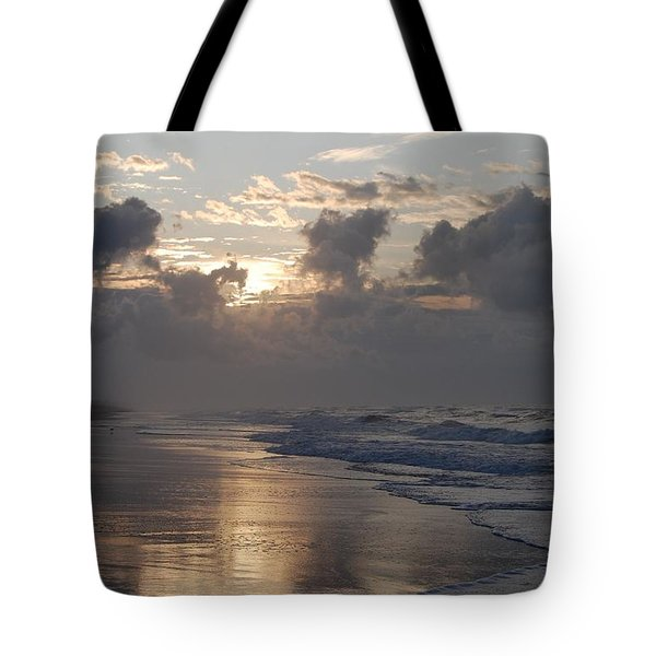 Silver Sunrise Tote Bag by Mim White