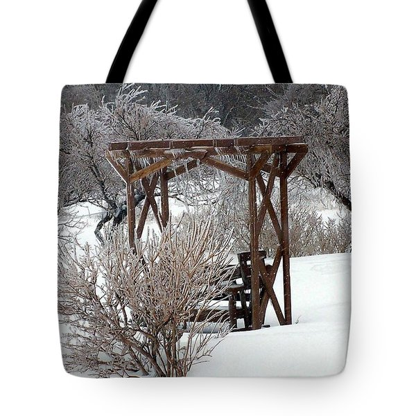 Silver Thaw Tote Bag