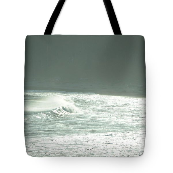 Silver Wave Tote Bag