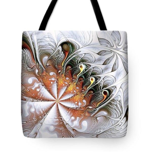 Silver Waves Tote Bag by Anastasiya Malakhova