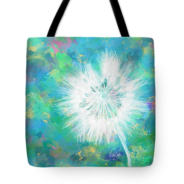 Silverpuff Dandelion Wish Tote Bag by Nikki Marie Smith