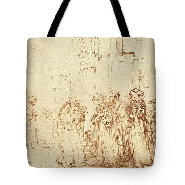 Simeon And Jesus In The Temple Tote Bag by Rembrandt Harmenszoon van Rijn