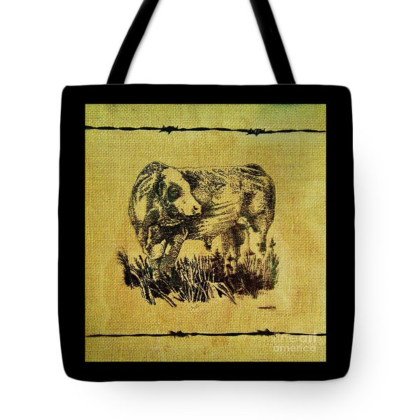 Simmental Bull 12 Tote Bag