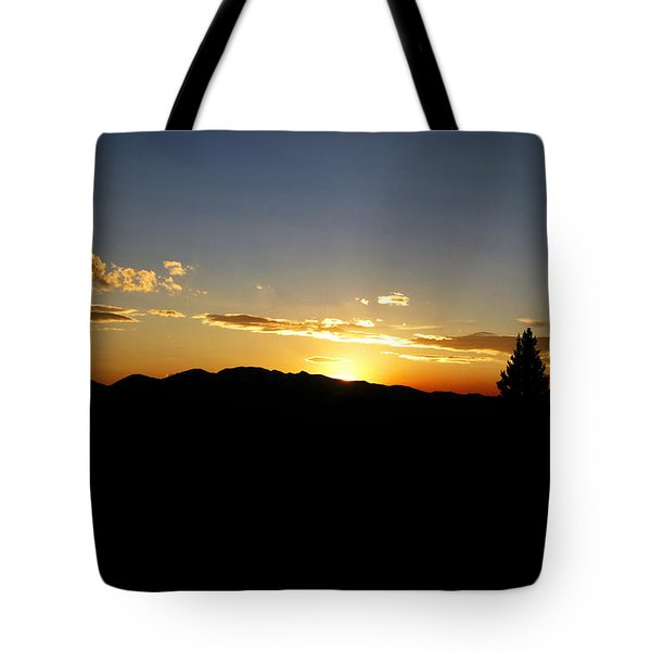 Simple Sunset Tote Bag by Jeremy Rhoades
