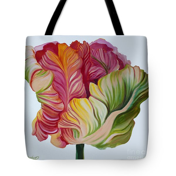 Simple Tulip Tote Bag by Debbie Hart
