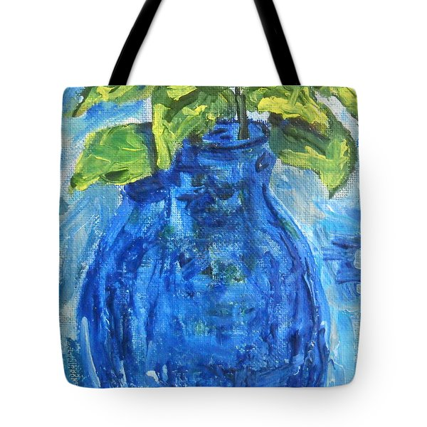 Tote Bag featuring the painting Simple Greens by Reina Resto