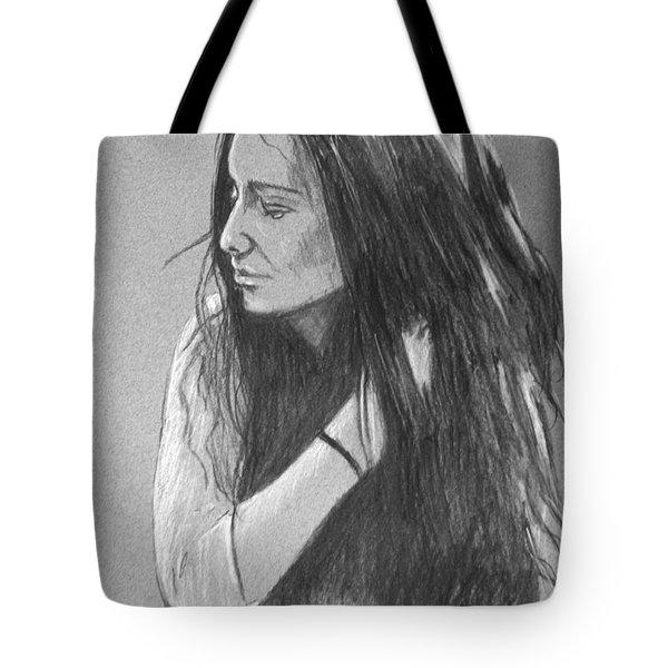 Simplicity Grey Tote Bag by Justin Moore