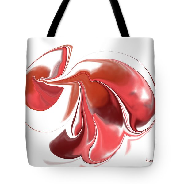 Simplicity In Red Tote Bag by Louise Lamirande