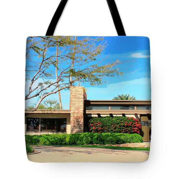 Sinatra Home Palm Springs Tote Bag by William Dey
