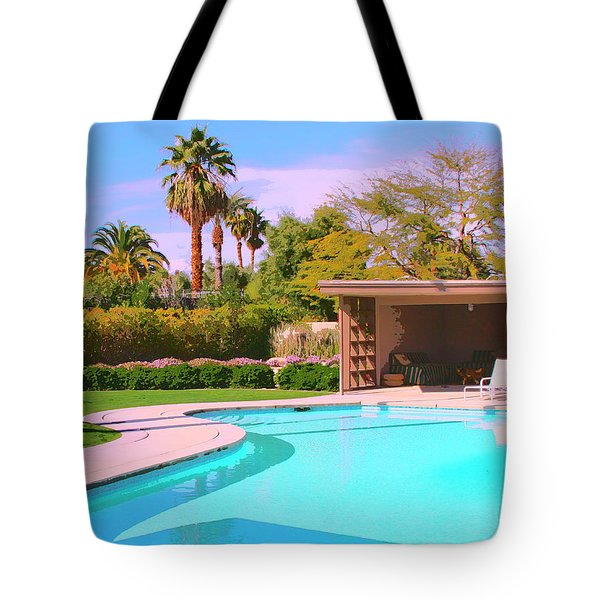 Sinatra Pool Cabana Palm Springs Tote Bag by William Dey