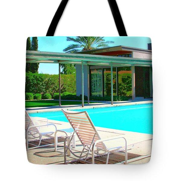 Sinatra Pool Palm Springs Tote Bag