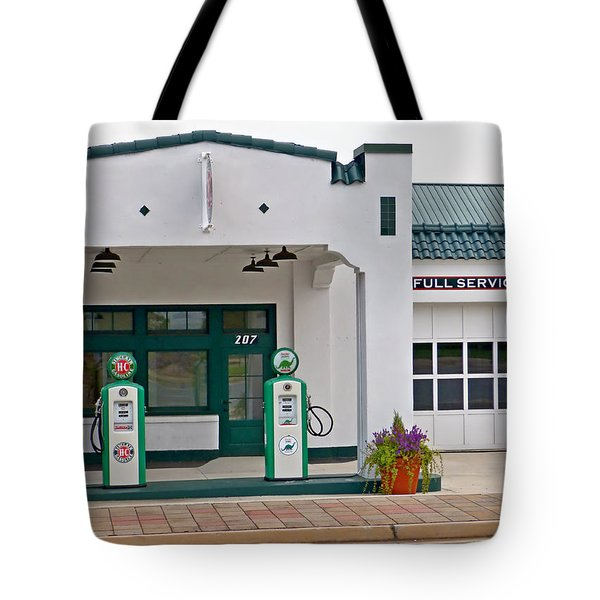 Sinclair Gas Station Tote Bag by Pete Trenholm