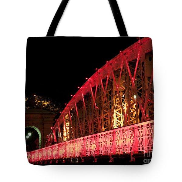 Singapore Anderson Bridge At Night Tote Bag