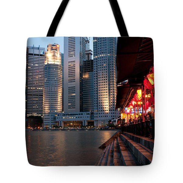 Singapore Boat Quay 02 Tote Bag