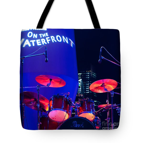 Singapore Drum Set 01 Tote Bag by Rick Piper Photography