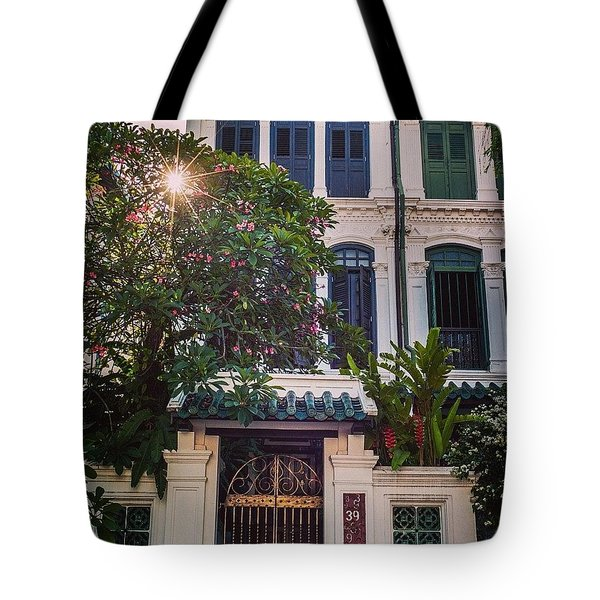 Singapore Traditional Houses Tote Bag