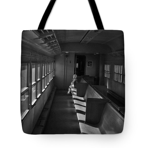 Tote Bag featuring the photograph Singin' In The Train by Jeremy Rhoades