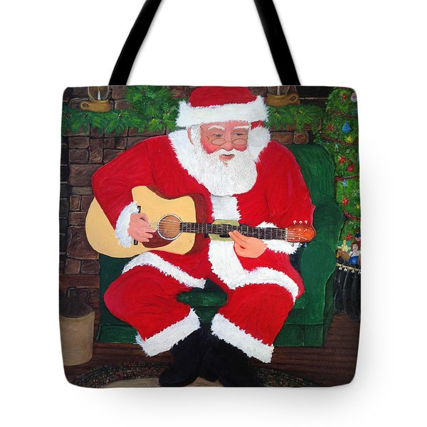 Singing Santa Tote Bag