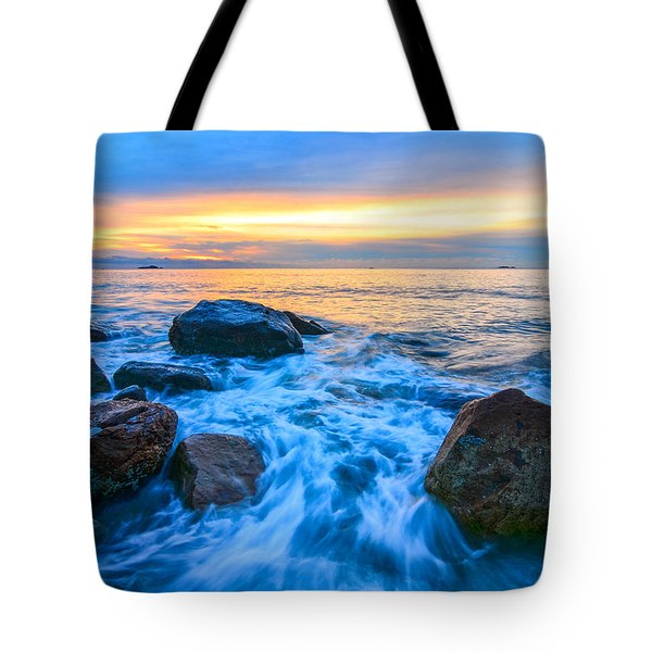 Singing Sunrise Singing Beach Tote Bag