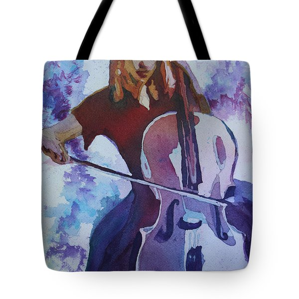Singing The Cello Tote Bag by Jenny Armitage