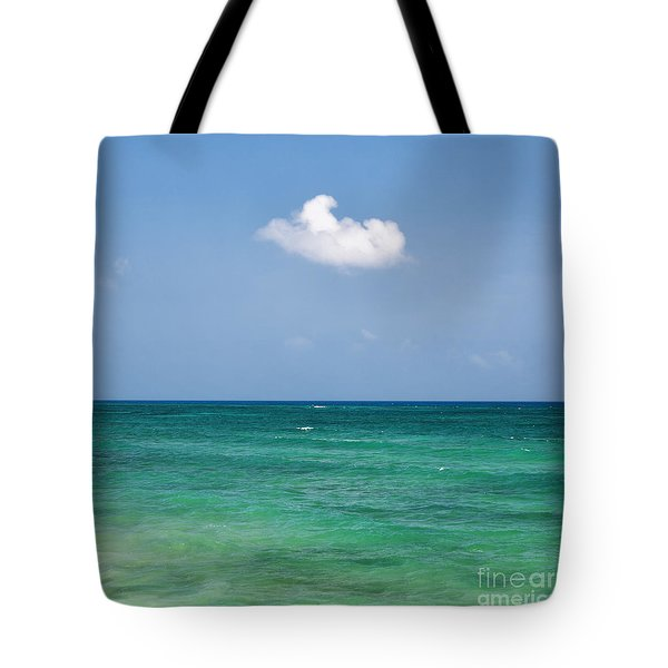 Single Cloud Over The Caribbean Tote Bag
