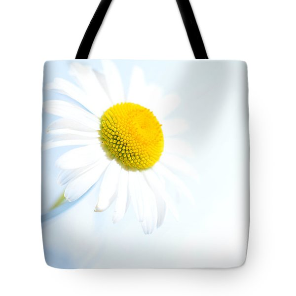 Single Daisy Flower In Vase Tote Bag by Sabine Jacobs