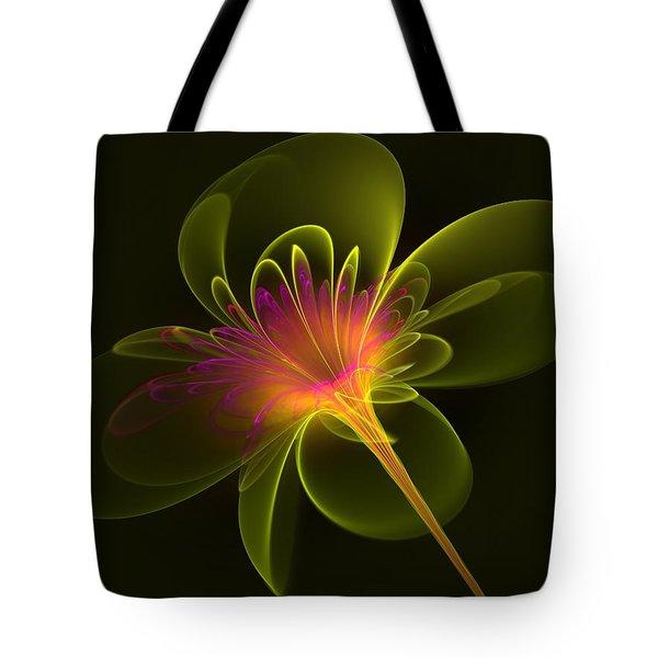 Single Flower Tote Bag by Svetlana Nikolova