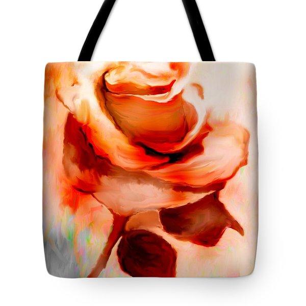 Single Rose Painting Tote Bag