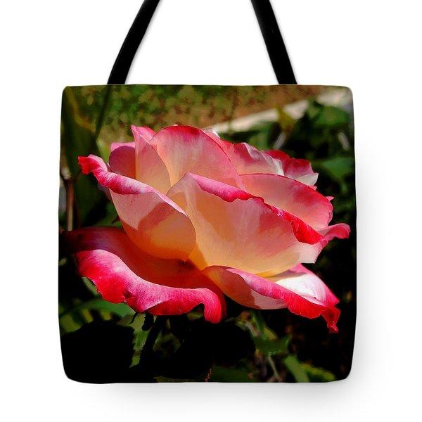 Single Rose Tote Bag by Pamela Walton