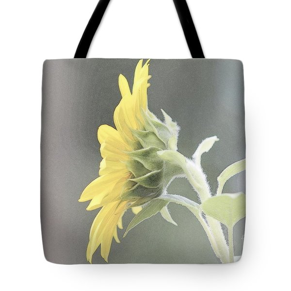 Single Sunflower Tote Bag