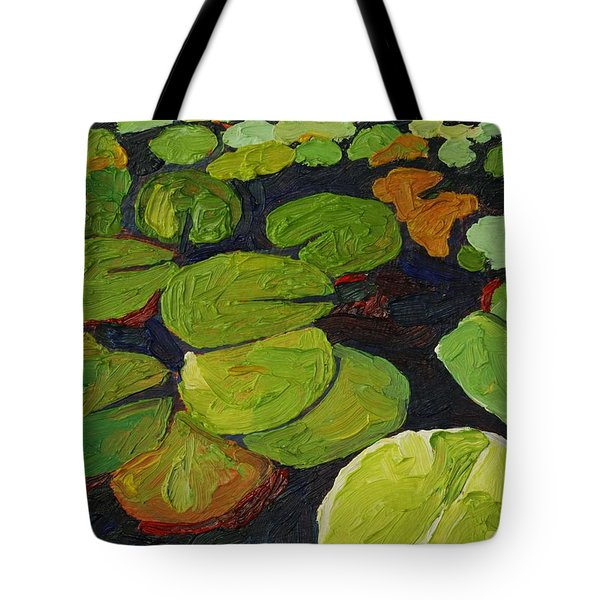 Singleton Lily Pads Tote Bag by Phil Chadwick