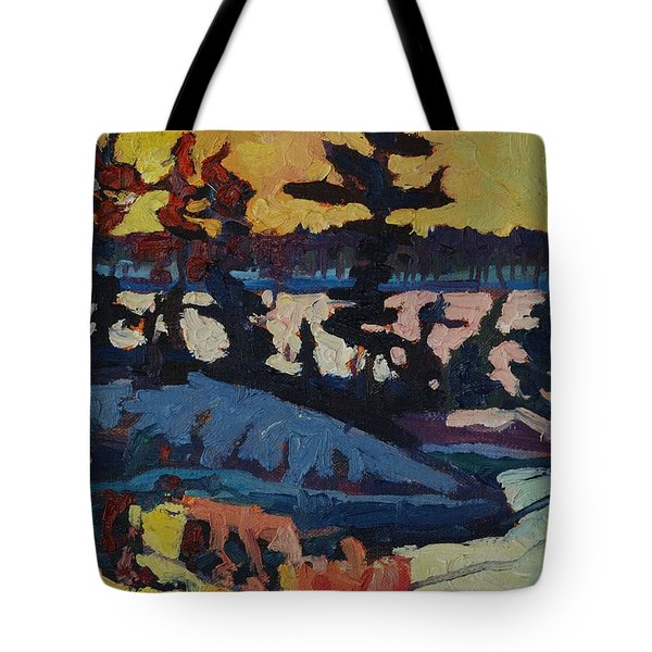 Singleton Sunset Tote Bag by Phil Chadwick